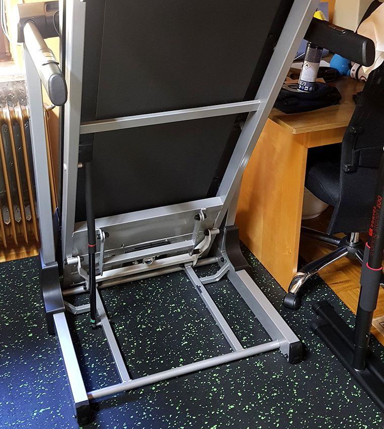 Kettler Run 1 Treadmill - Folded Up
