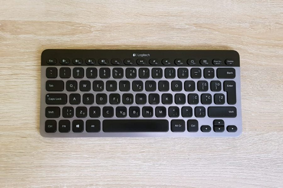 Logitech K810 Illuminated Keyboard from above