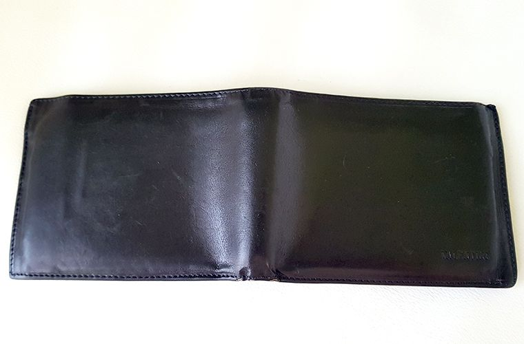 Mens Valentini Leather Wallet - Back from Top