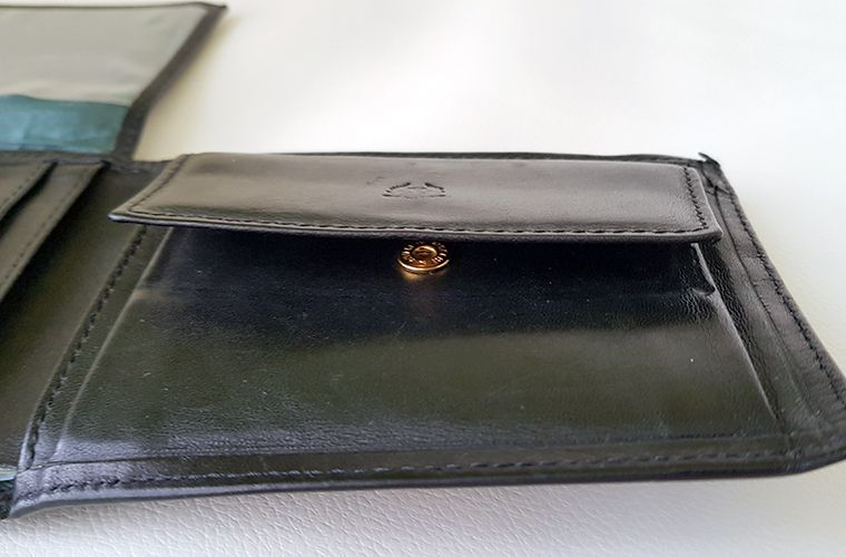 Mens Valentini Leather Wallet - Coin Pocket 3