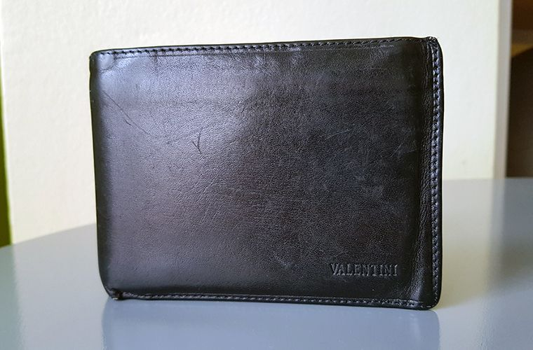 Mens Valentini Leather Wallet - Front