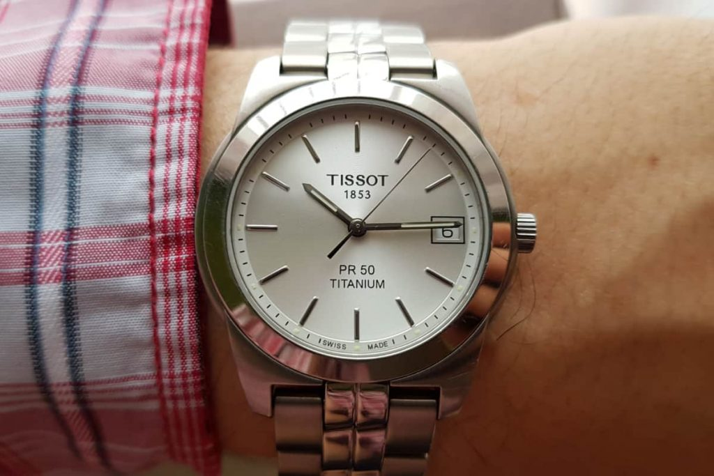 Tissot PR 50 Titanium on my wrist