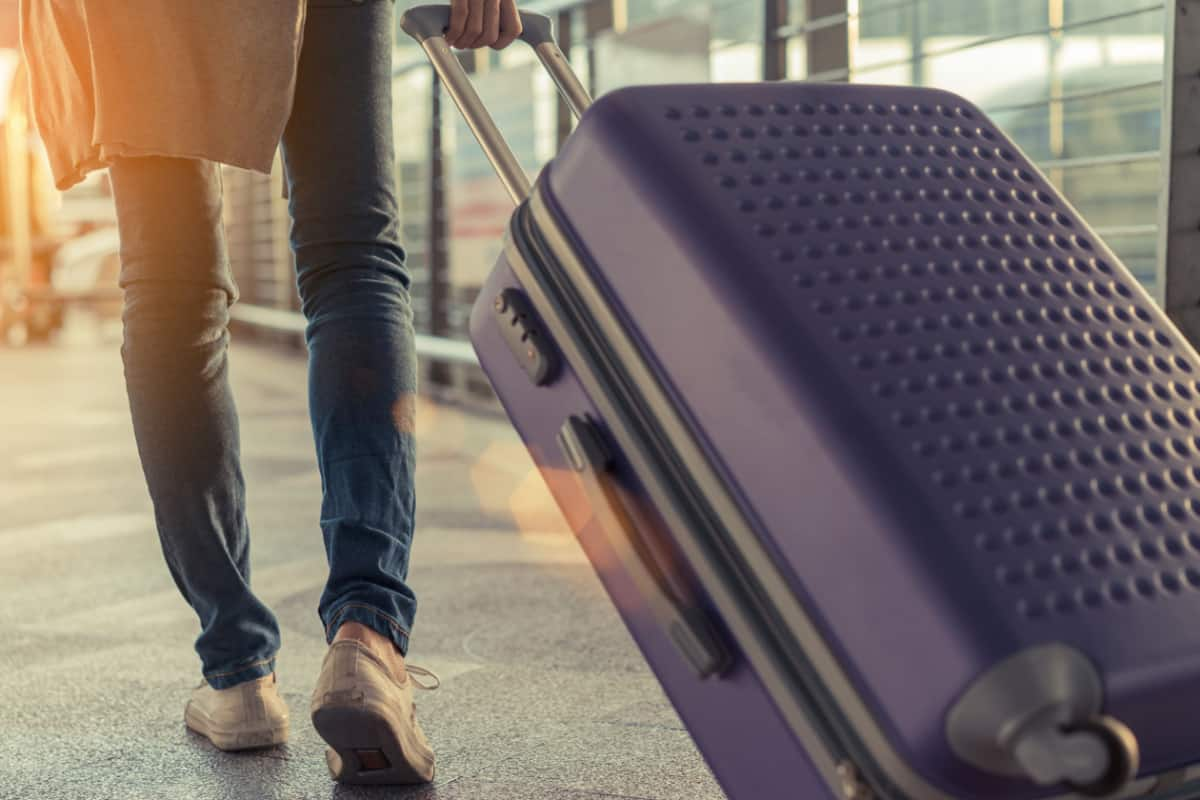 person carrying luggage