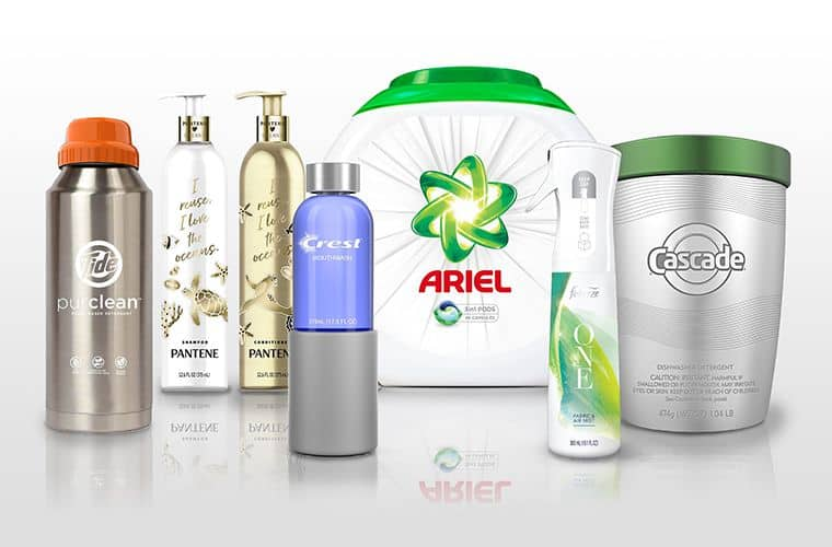 Various products and brands from Procter & Gamble