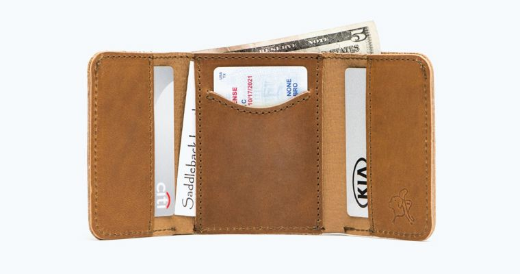 trifold leather walle