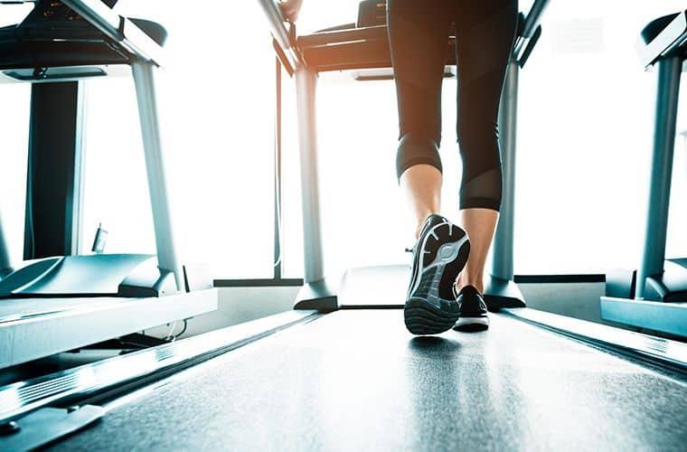 woman walking on a treadmill 2