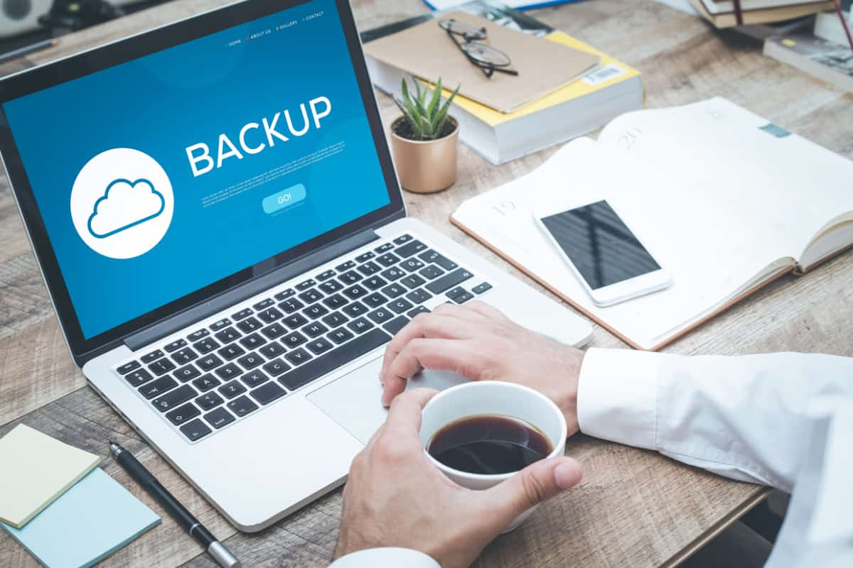 backing up data on a laptop