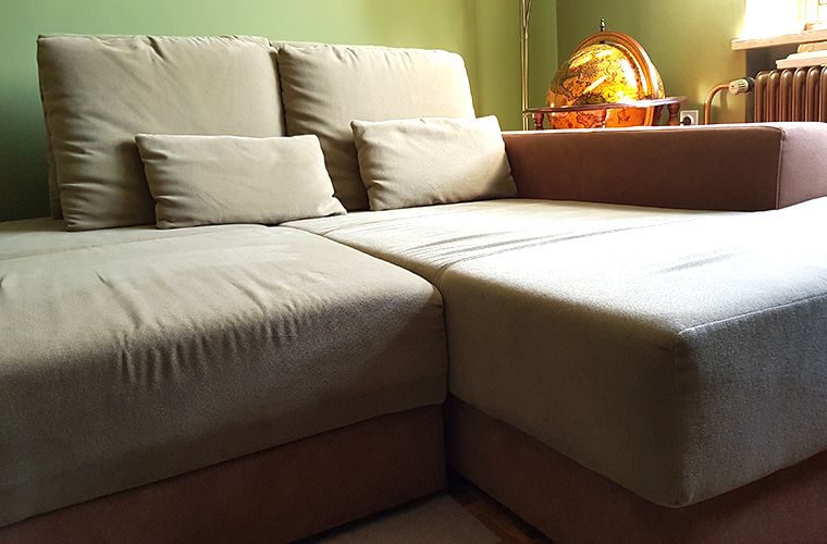 big green and brown couch