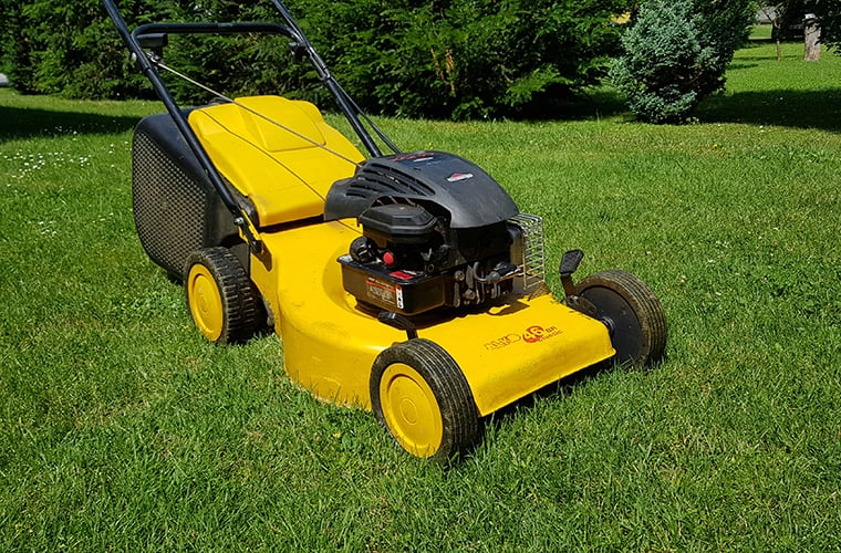 my yellow AL-KO lawnmower
