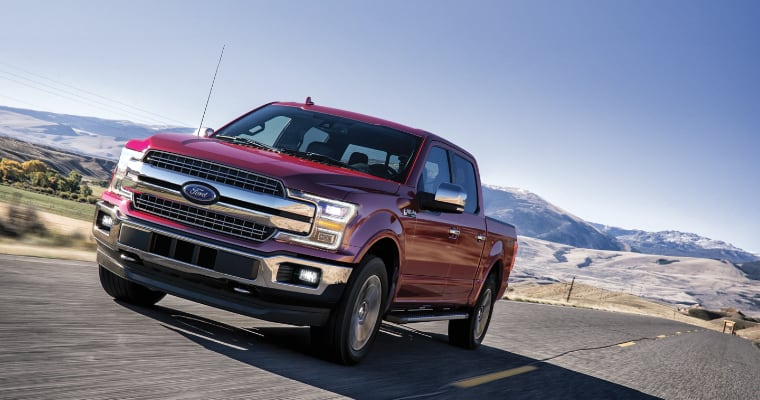 2020 ford f-150 in red