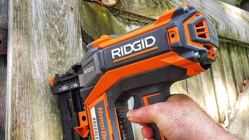 man working with ridgid 18v hyperdrive
