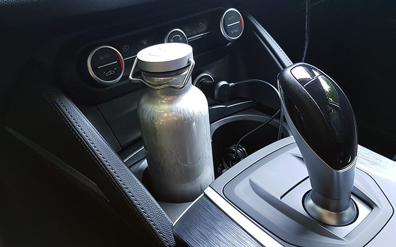 SIGG Original Alu Bottle in a cup holder