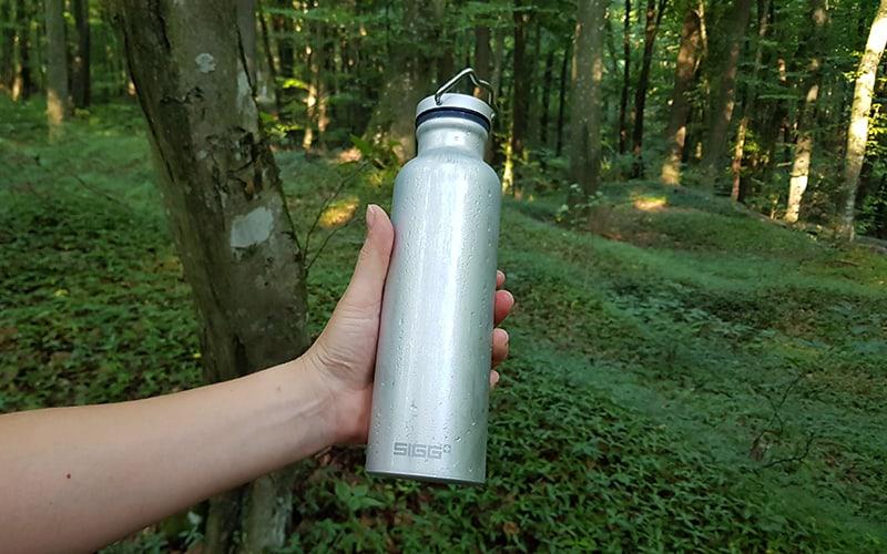 SIGG Original Alu Bottle - in woods - feature image