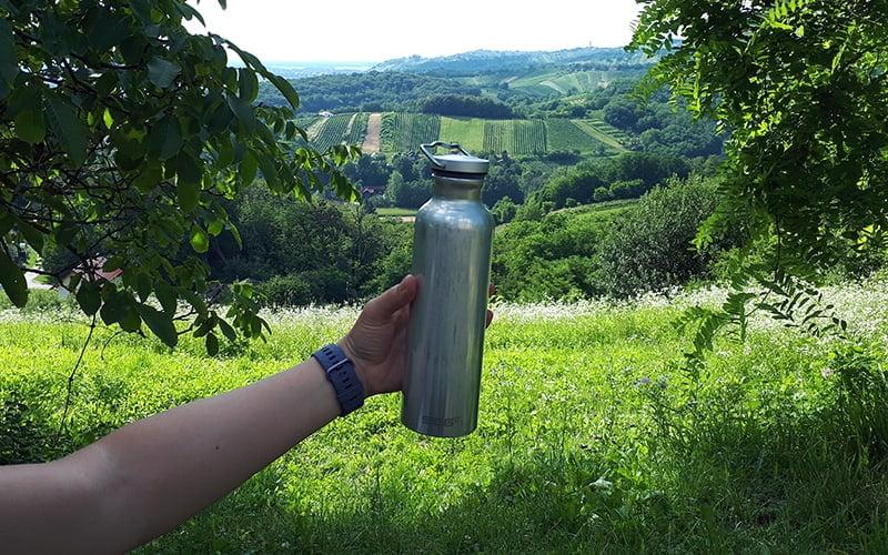 SIGG Original Alu Bottle - on a hike