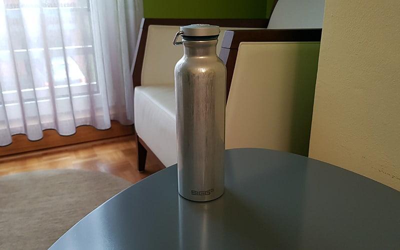 SIGG Original Alu Bottle on a table