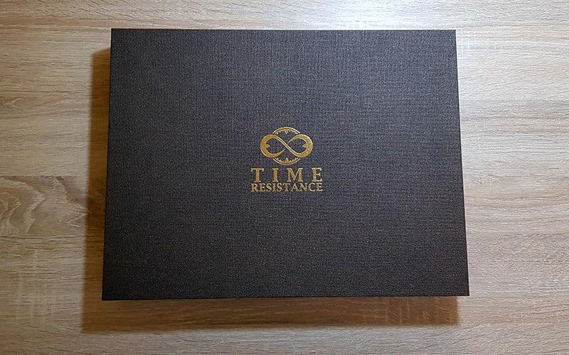 Time Resistance Leather Portfolio Candide - box
