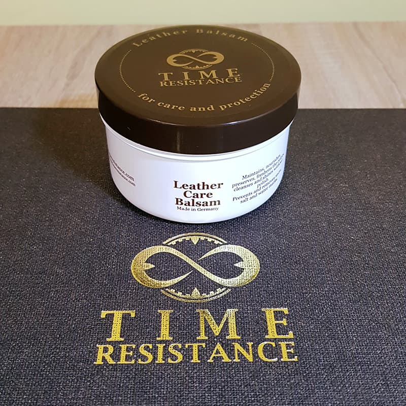 Time Resistance Leather Portfolio Candide - leather balsam