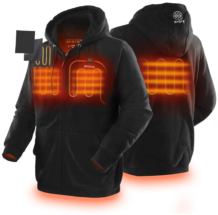 ororo heating elements on a hoodie