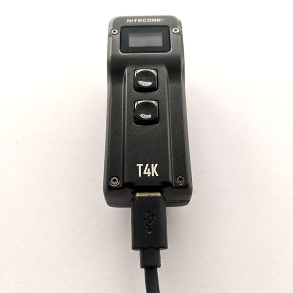 Nitecore T4K - charging
