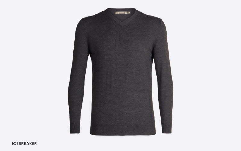 men's icebreaker v-neck sweater