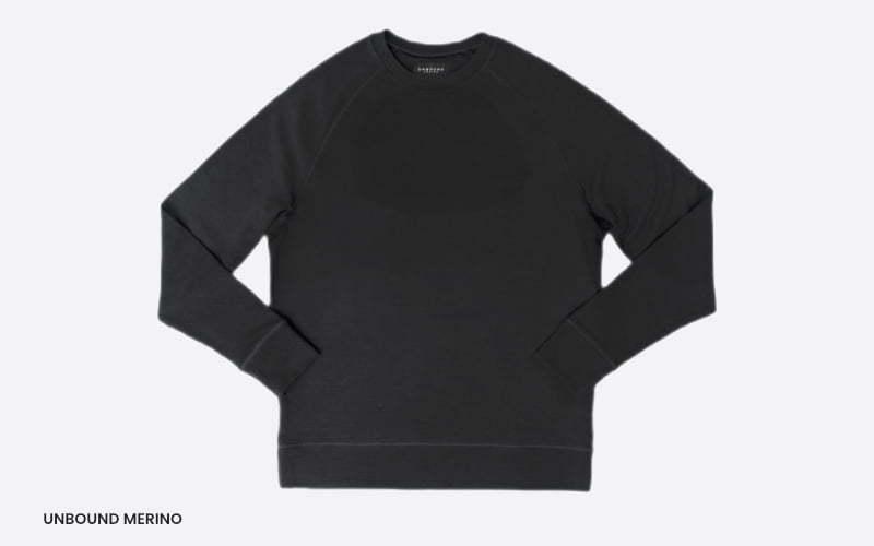 men's merino unbound sweater raglan