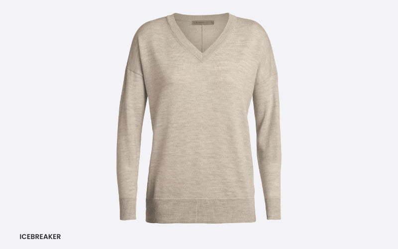 women's icebreaker v-neck sweater