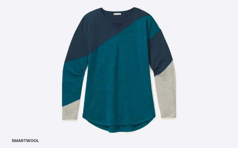 women's smartwool colorblock sweater