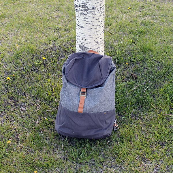 Loctote Cinch Pack - against tree